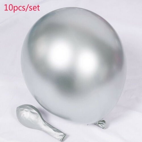 "10Pcs Balloons Birthday Party Decor 12/"" Inflatable Glossy Metallic Pearl Latex"