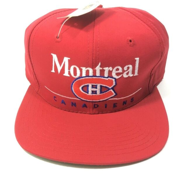 eeaf24894fd Vintage Montreal Canadiens Snapback Hat Cap NHL Twins Enterprise New Free  Ship!