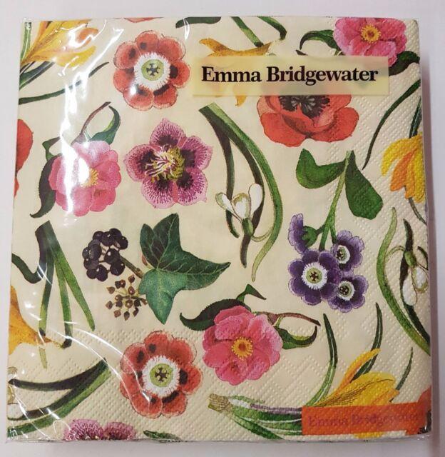 Emma Bridgewater Negro Tostadas Etch Papel Servilletas Nuevo 20 en paquete de 33 cm 3ply Cuadrado