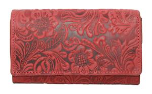 Geldbörse Naturleder Rustikal Damenbörse RFID / NFC Vollrindleder Geldbeutel