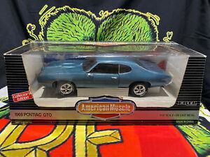 ERTL American Muscle 1969 Pontiac GTO 1/18 Scale Die Cast Metal 7466 Muscle Car