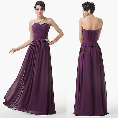 VINTAGE Long prom bridesmaid Masquerade Evening party Ball Gown dress Plus Size