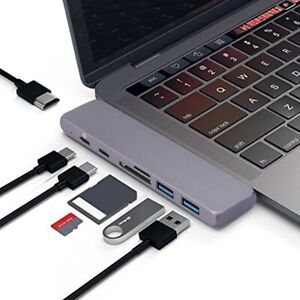Details about USB C Hub Adapter Dongle MacBook Air 2018 Pro 2018/2017/2016  100W Power 50Gbps