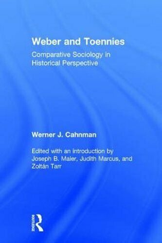 Weber and Toennies: Comparative Sociology in Historical Perspective by Maier