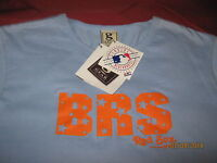 Boston Red Sox Top Large (nwt) Blue genuine Mlb 100% Cotton, S/s Women's