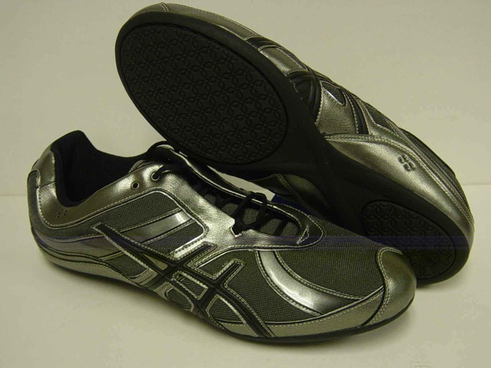 NEW Womens Sz 12 ASICS Gel Rhythmic S175N 8090 Dance Gunmetal Sneakers Shoes Casual wild