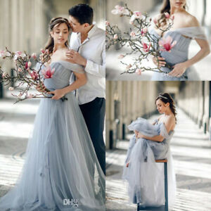 Fairy Wedding Dress.Details About Gray Wedding Dresses Off The Shoulder A Line Tulle Fairy Bridal Gowns Plus Size