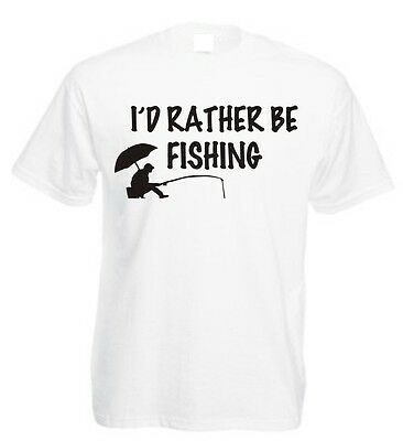 tackle I/'d rather be fishing t-shirt fishing rod Fishing reel