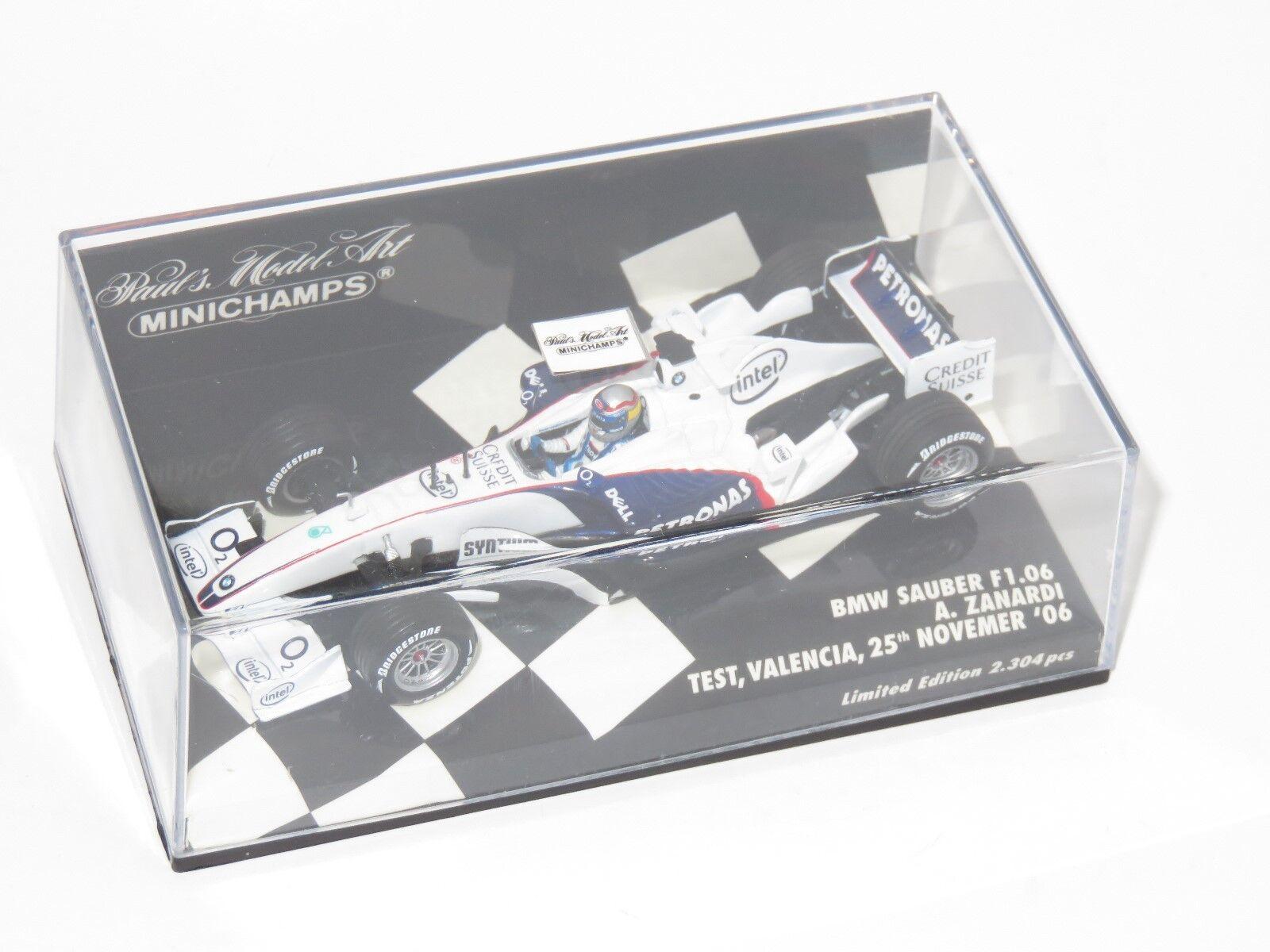 1 43 BMW Sauber F1.06  Valencia Test 2006  Alex Zanardi