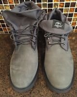 Timberland Basic Roll Top Boots Grey Nb Nubuck Gray Men's 11 M Tb0a11f9