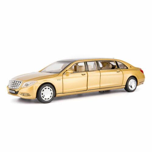 1//32 Mercedes-Benz S650 Limousine V12 Metall Die Cast Modellauto Gold Spielzeug
