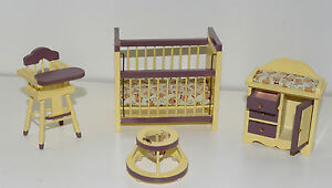 Toddler-039-s-Room-Set-1-12-Dollhouse-Scale-Miniature-Furniture