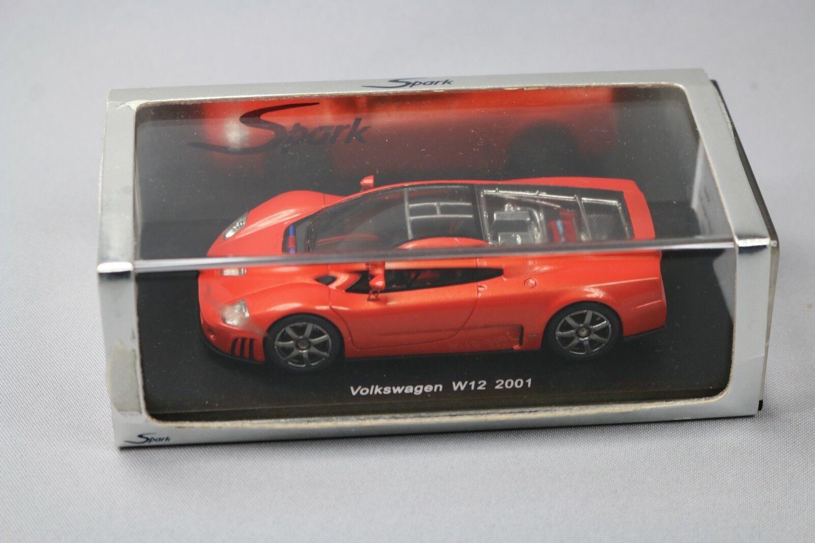 ZC1090 Spark S0440 Voiture Miniature  Volkswagen W12 2001 naranja