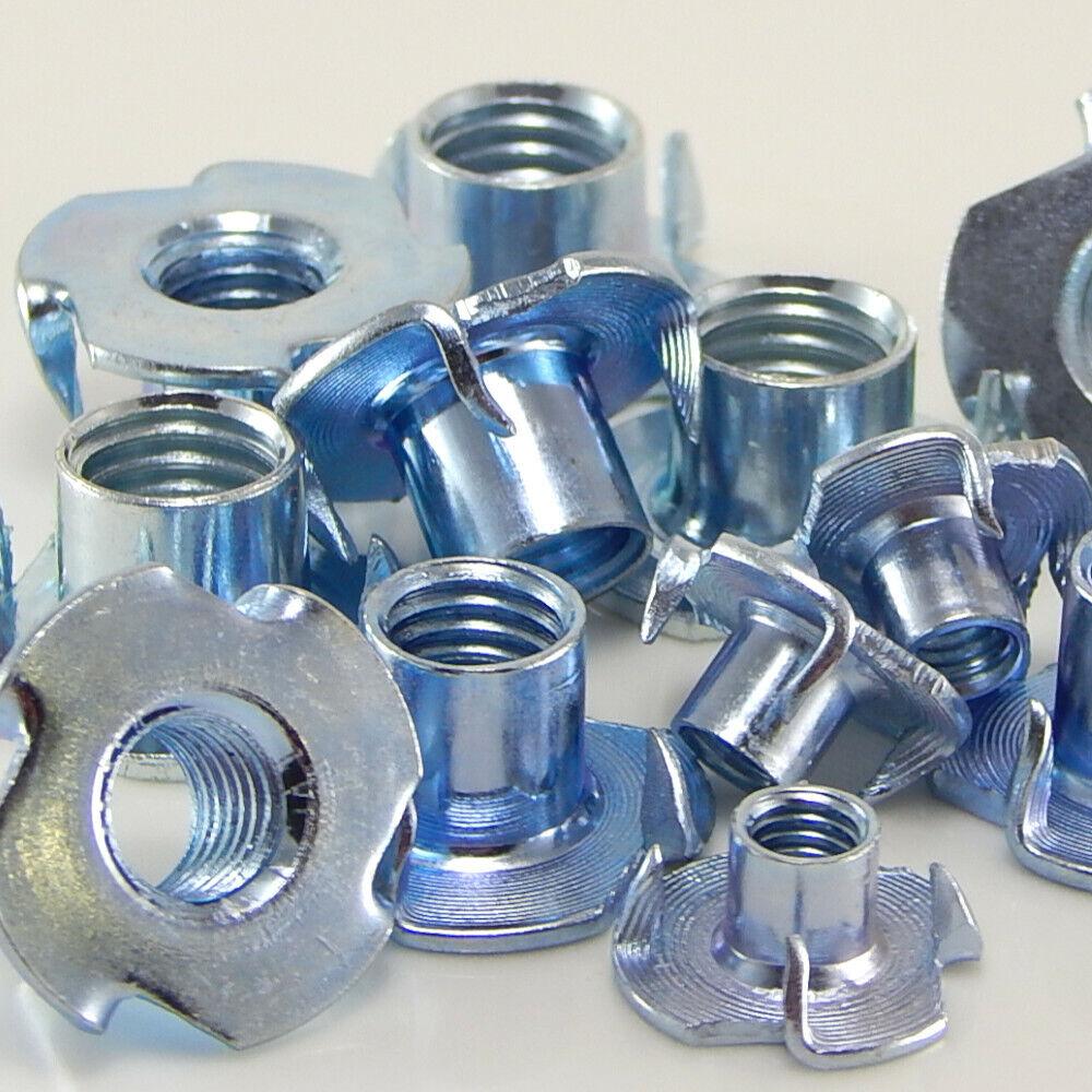 DIN 6930 Stahl verzinkt M3 bis M12 Einschlagmuttern Einschlagmutter ISO 6930g 10, M3 x 5 mm