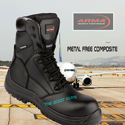 52fa2c62311 COMBAT MILITARY WATERPROOF SAFETY WORK BOOTS, SCOUT, TACTICAL POLICE METAL  FREE   eBay