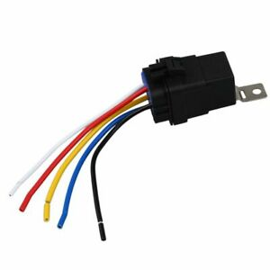 40-AMP-INTERRUTTORE-RELE-Impermeabile-Cablaggio-Set-12V-corrente-continua-5-Pin-SINGLE-pole-Doppio