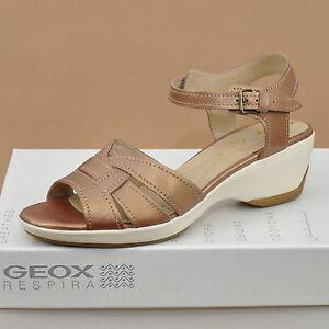 geox respira d gail b damen leder sandalen tan d4263b 000tg c6017 ebay. Black Bedroom Furniture Sets. Home Design Ideas