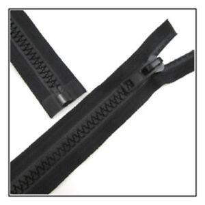 CHUNKY-BLACK-ZIP-785mm-PLASTIC-TEETH-TWO-WAY-OPEN-END-Anorak-Heavy-Duty