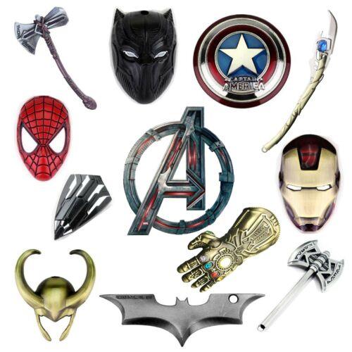 Marvel Avengers Keychain Stormbreaker Iron Men Spider Thanos Panter Thor Captan