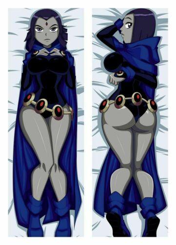 NEW Anime Teen Titans Raven Dakimakura Body Pillowcase Cover 150x50CM
