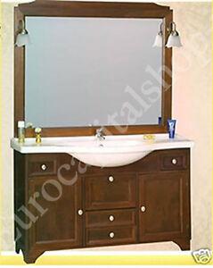 Mobile Bagno Arte Povera - Arredamento- 120 CM- Agnese- Legno | eBay