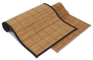 5x6 60x72 Brown Bamboo Floor Mat Area Rug Tatami Latex NonSlip