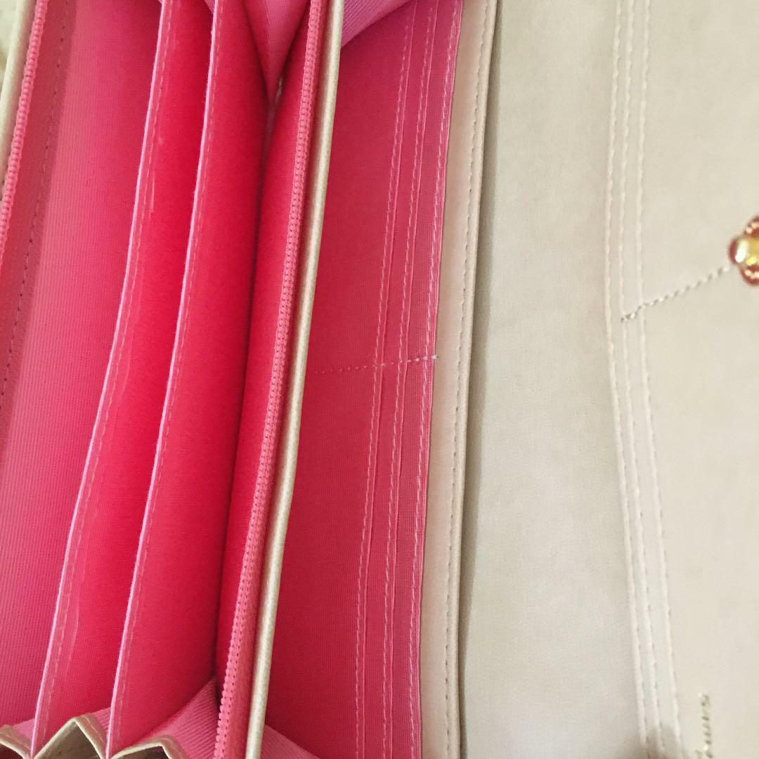 Disney Long Wallet Samantha Thavasa Petit Choice Collaboration Round Zipper Pink