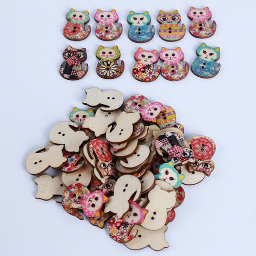 50Pcs Multi Styles Animal Abeille Cherry pour Couture Scrapbook Embellissements Shan