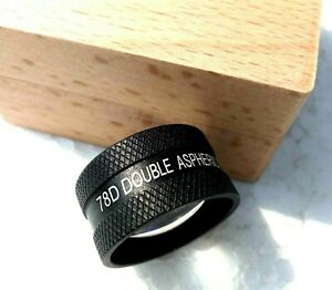 Black-Colour-Double-Aspheric-Lens-78D-with-instruction-Manual-Free-Shipping