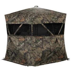 RHINO Blinds R600 3 Person Game Keeper Ground Blind Mossy Oak Breakup Country