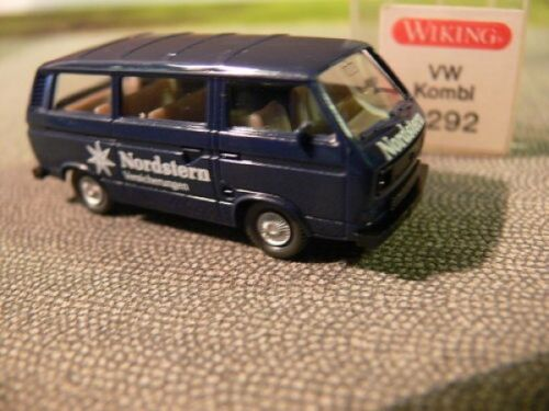 1//87 Wiking VW t3 furgoneta estrella del norte seguros azul 292 6