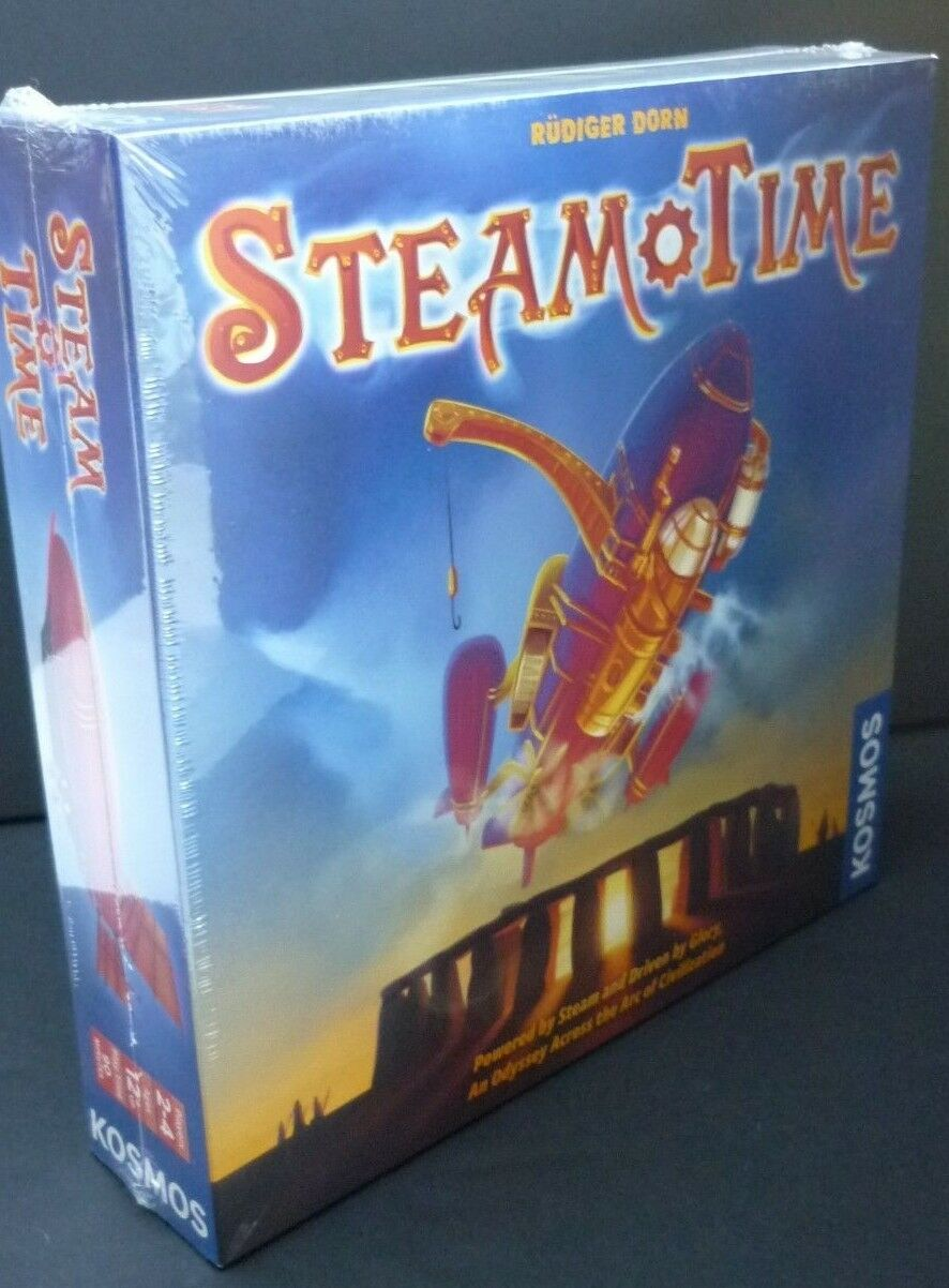 Steam Time Steampunk Time Travel Board Game Rudiger Dorn 2-4 Players Ages 12+