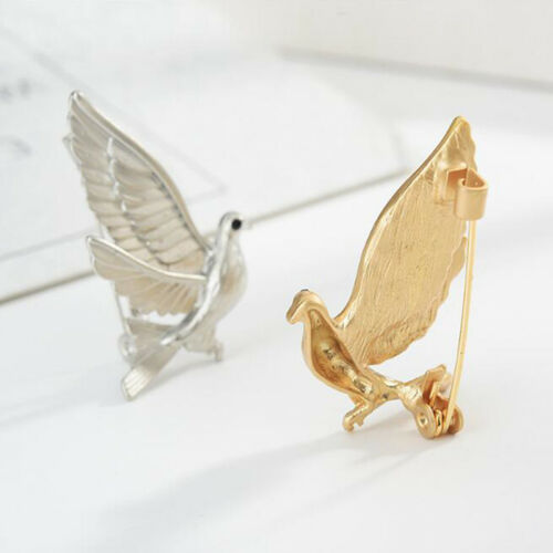Stylish Women Girls Peace Pigeon Bird Collar Pin Brooch Party Jewelry LH