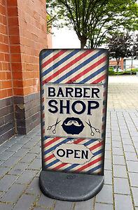Barbershop A-Board Pavement Sign - Barber Shop Sign, Hair Salon, EcoFlex 2