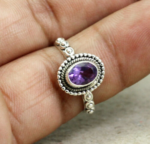 Details about  /Solid 925 Sterling Silver Amethyst Gemstone Handmade Woman/'s Girl/'s Ring KR1175
