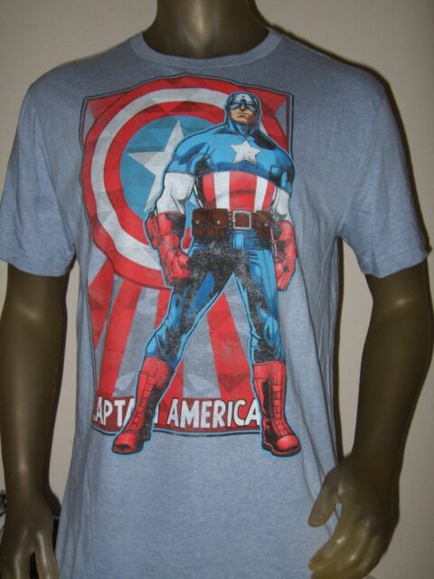 New Men's Captain America Shield Marvel Comics Avengers Tee Shirt Gap