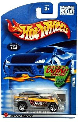 HOT WHEELS 2002 JEEPSTER #144 YELLOW