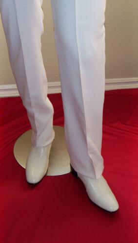 "ELVIS White STRAIGHT LEG Pants 40/"" Tribute Artist Costume Pre Jumpsuit Era"