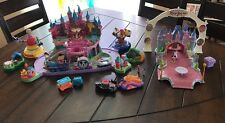 Disney Magic Kingdom Castle Polly Pocket Playset Mickey Mouse Rides Huge Lot!