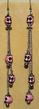 SKULL GOTHIC Goth CHAIN TRIBAL Dia De Los Muertos Belly Dance Dancing Earrings