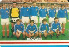 Carte Football YOUGOSLAVIE Futebol soccer sport trading card