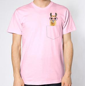 Llama T-Shirt Fake Crest Pocket