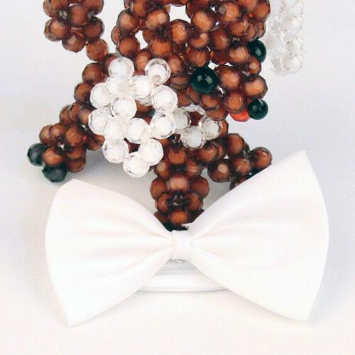 Mens Solid Color Tuxedo Classic Bowtie Pre Tied Wedding Satin Bow Tie NeckwearJH