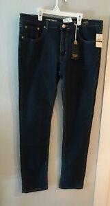 36x34 Nuevo Indigo Personas Para Hombres Pantalones Elastizados Ajustados Pantalones Vaqueros Azul Oscuro 5 Bolsillos Ebay