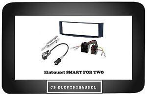 Set-montaje-adaptador-de-antena-ISO-para-Smart-dos-Marco-radio-1DIN-Azul
