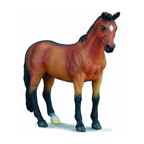 CollectA 88105 Bay Thoroughbred Mare Standing Model Horse Toy Racehorse NIP