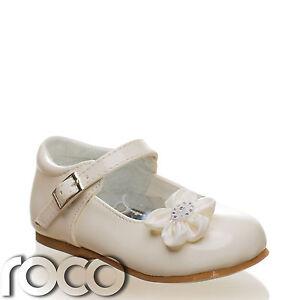f162b786e Baby Girls Cream Shoes Christening Wedding Flower Girl Shoes Infant ...