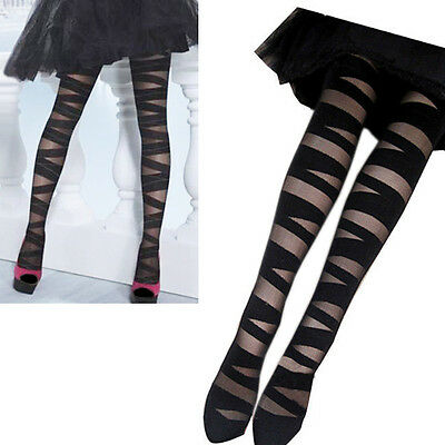 Women Beautiful Sexy Pantyhose Black Ripped Tights Great Mock Stocking Gift