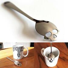 Suck UK Sugar Skull Spoon Silver Utensil Collectible Silverware Gift Tea Coffee
