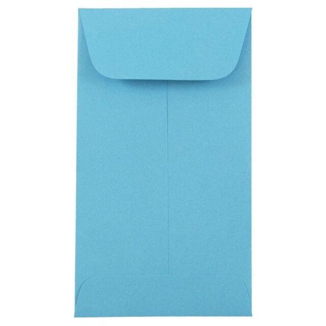 500-#3 COIN ENVELOPE 4.25x2.5 Light/Sky Blue Gummed Seal Acid Free(4-1/4x2-1/2)